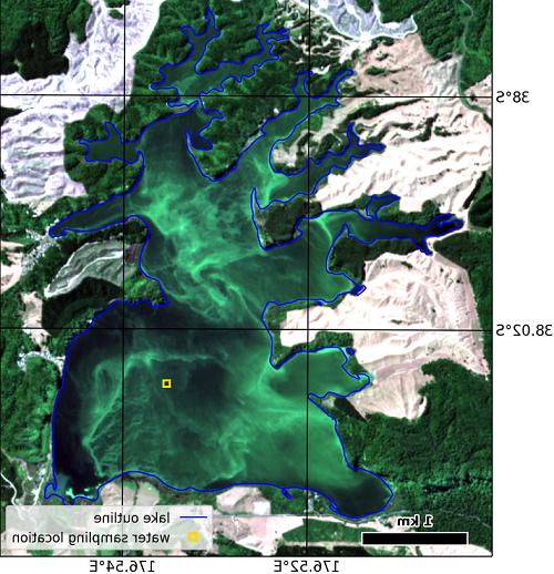 罗托胡湖的卫星图像